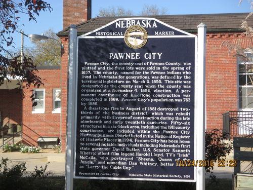 Pawnee City Nebraska >> Nebraska Historical Marker Pawnee City E Nebraska History
